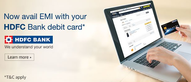 hdfc debit card emi amazon