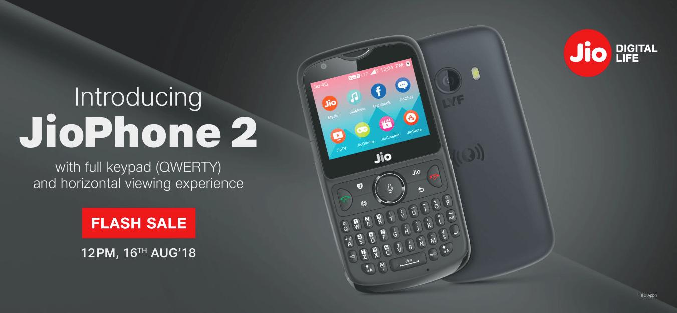 JIO Phone 2 Flash Sale