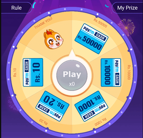 UC Browser Spin & Win Paytm Cashback Upto Rs 50000