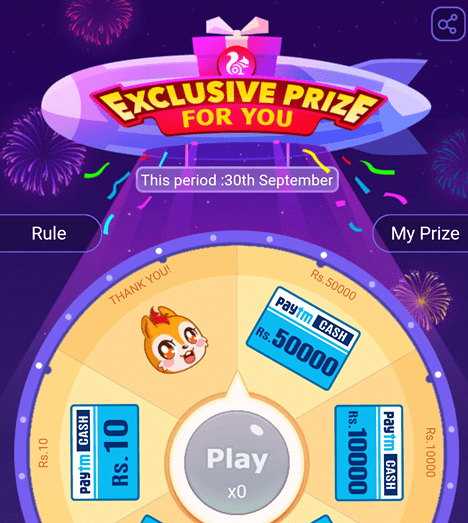 Free spin the wheel to win prizes remaining