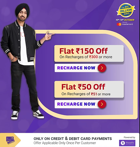 Image result for flipkart recharge offer