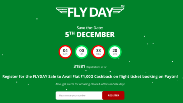 Paytm fly day sale offer