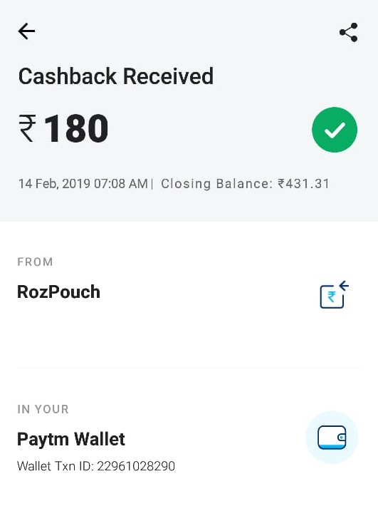 rozdhan earn money paytm cash