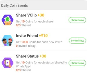 VClip App – Get Rs 20 On SignUp + Rs 10 On Per Referral