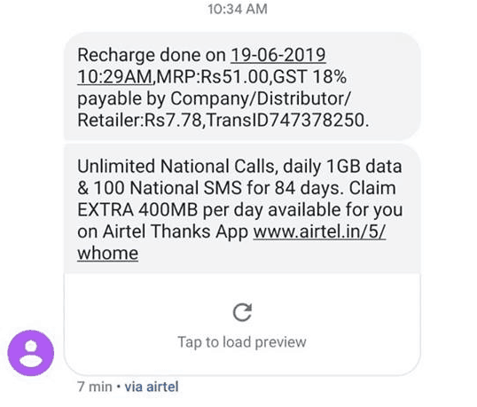 Airtel rs 399 rc in rs 51 only