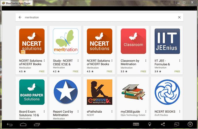 ncert app on bluestacks emulator