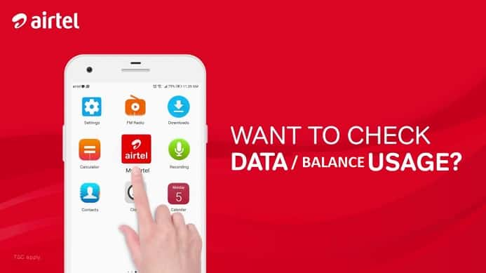 balance check number for airtel