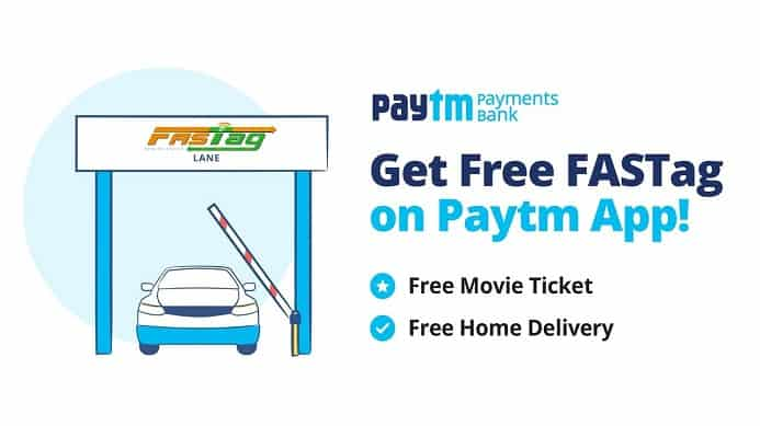Get Free Fastag from Paytm