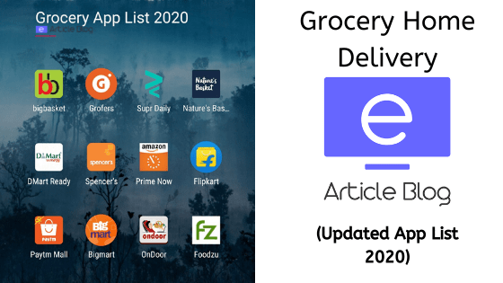 Grocery Delivery App 2020