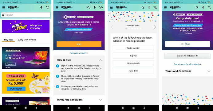 Amazon Daily Quiz Answers Today