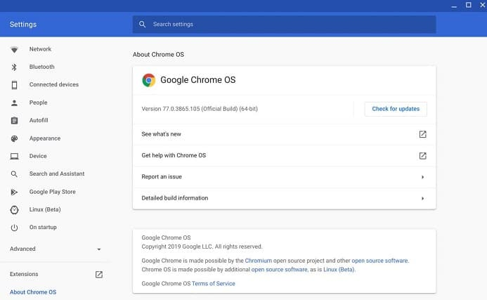 Update Chrome OS for KineMaster