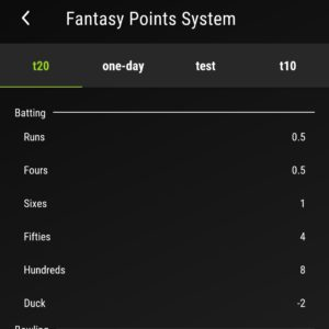 Prosports11 point system