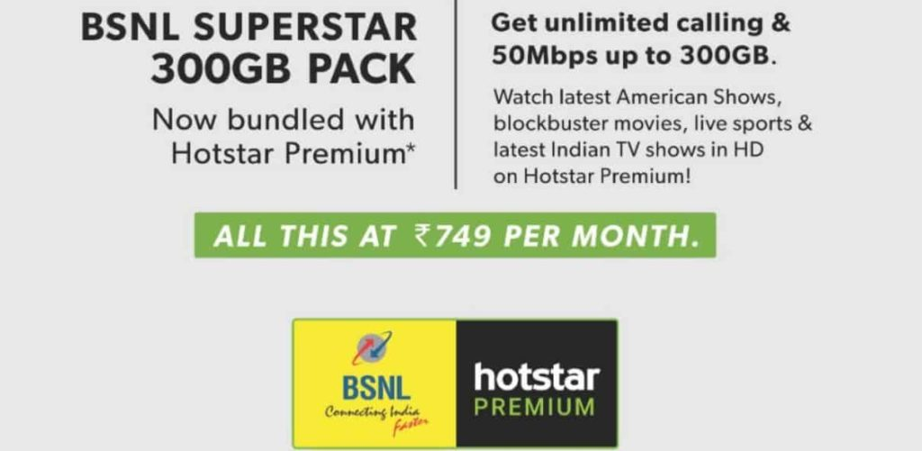 free hotstar with bsnl