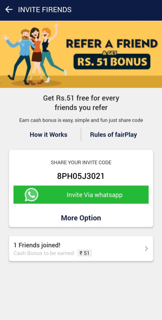 Myinnings Refer Code