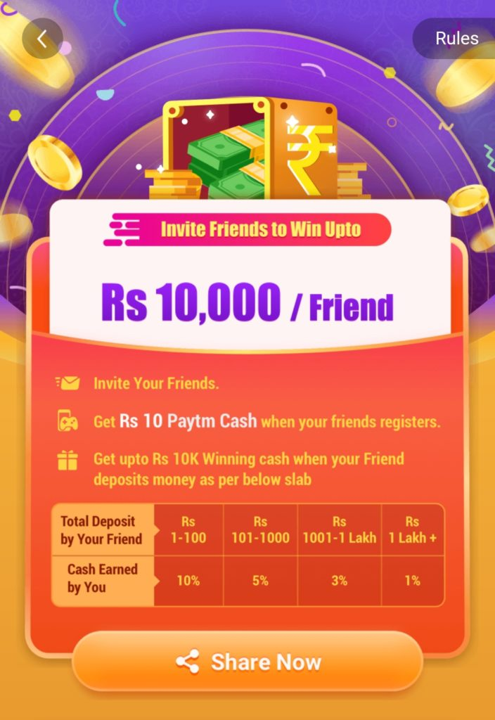 Paytm first games refer