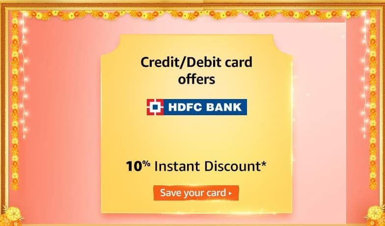 HDFC Bank Offer for Amazon Great Indian Festival