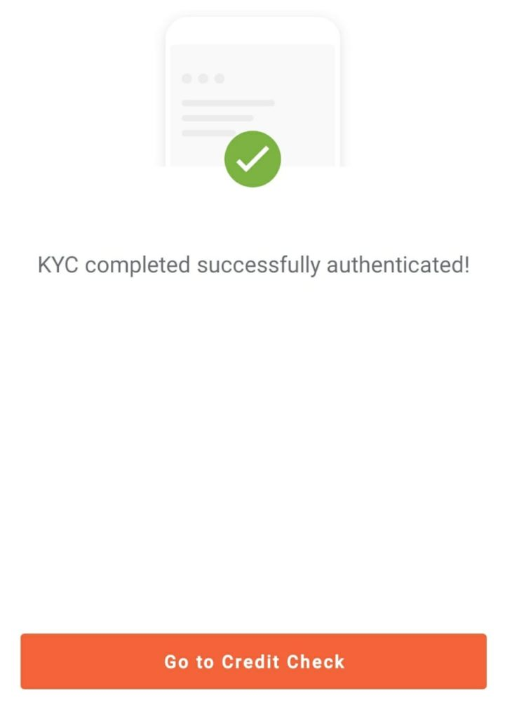 KYC completed in aadhar