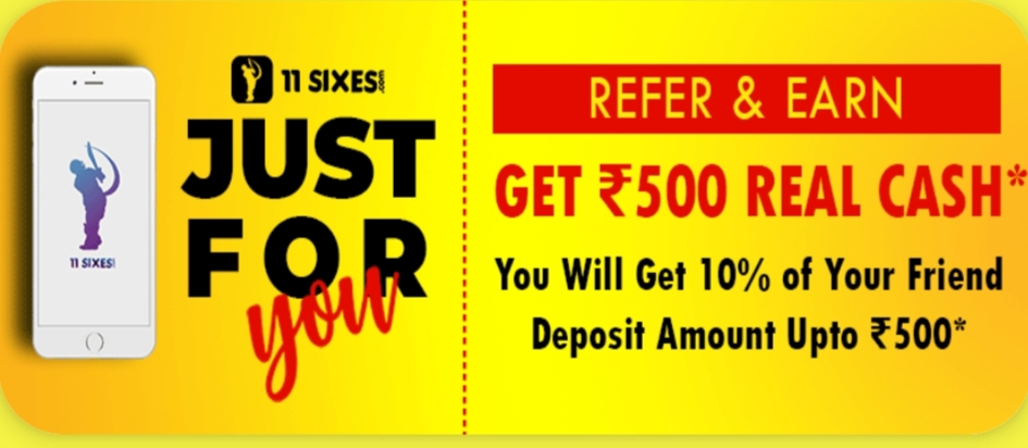 11sixes Refer and earn