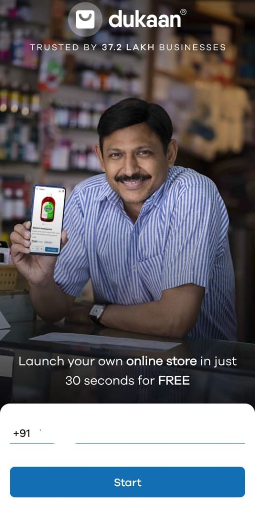 Create new store on dukaan app