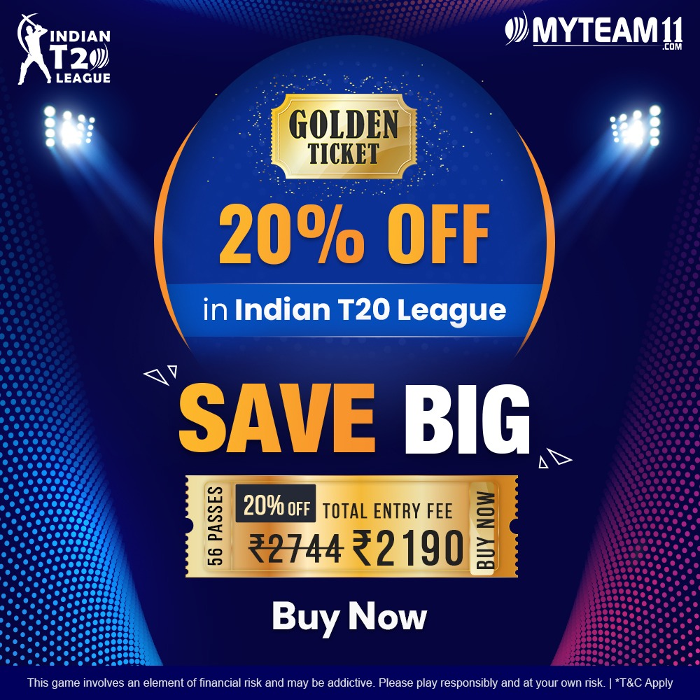 myteam11 golden ticket offer for IPL 21