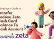 transfer sodexo zeta cash balance to bank account