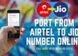 HOW TO Port From Airtel to Jio Number Online