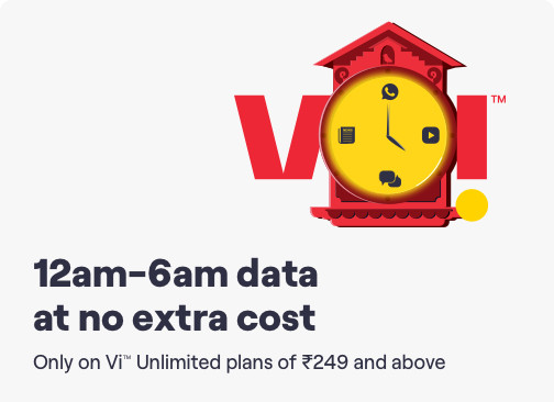 Vodafone unlimated night data pack