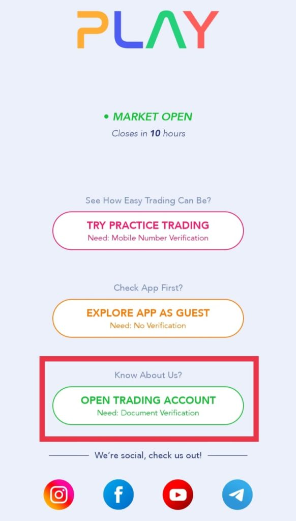 FnO Play trading account open