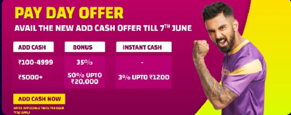 Gamezy Pay Day Offer