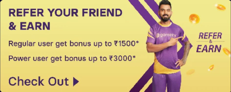 Gamezy Refer and Earn Program