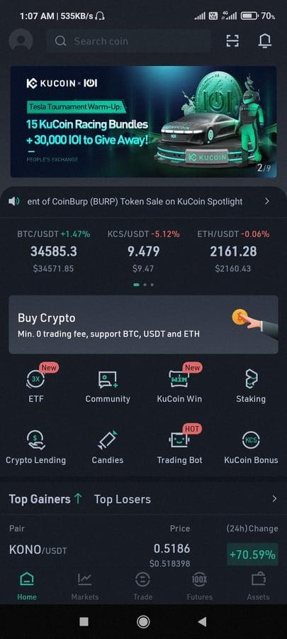 KuCoin markets