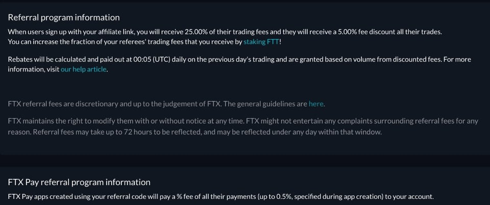 FTX refer and earn