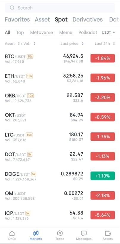 Okex cryptocurrency