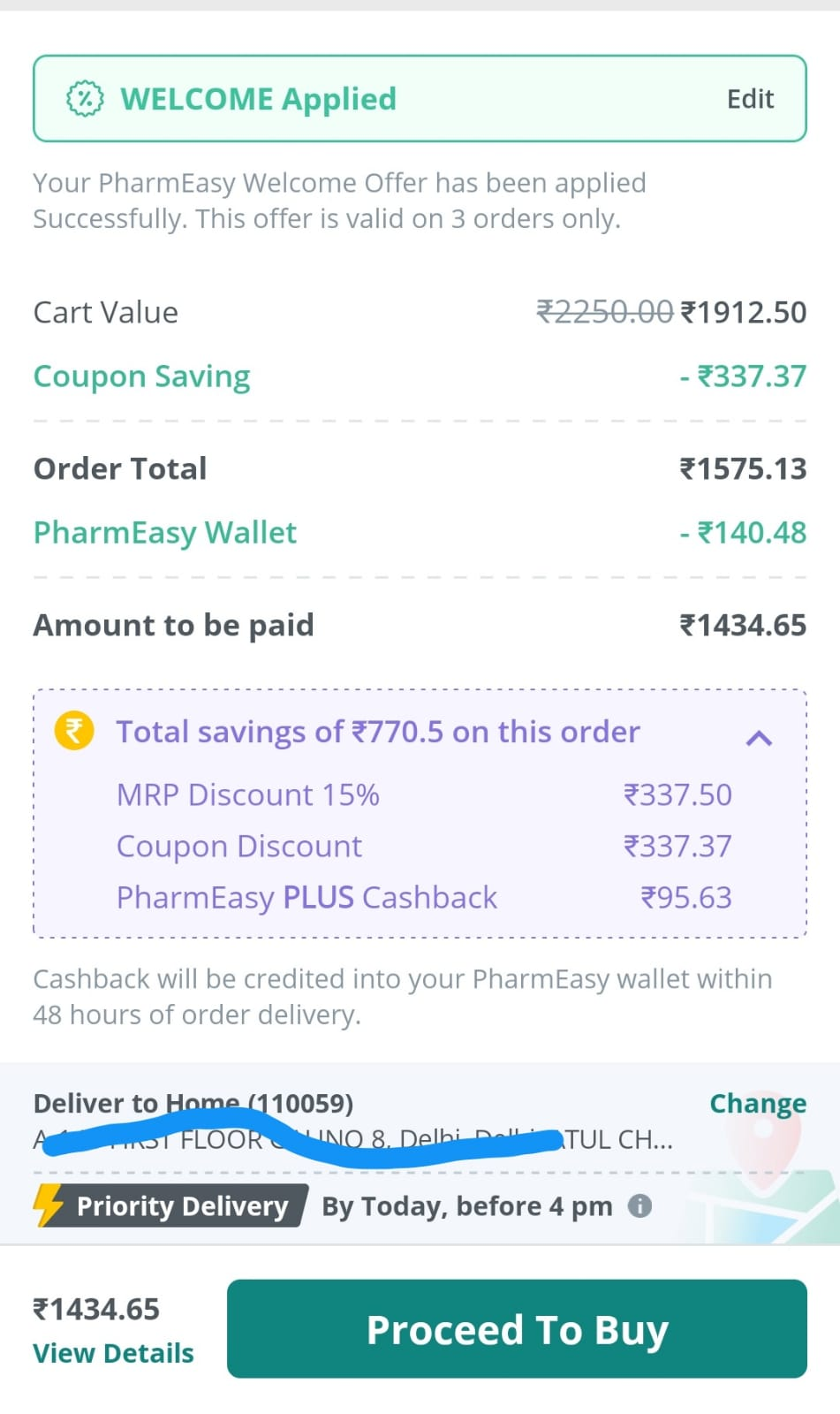 pharmeasy-discount-cart-page