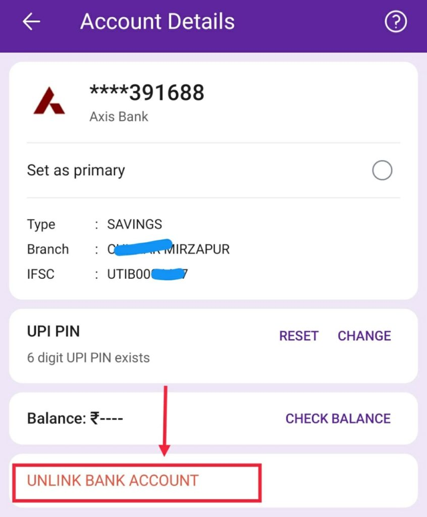 How-to-delte-bank-account-from-phonepe